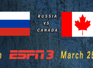 World Cup 2015: Russia vs Canada Mar 25th 6:00pm ET ESPN3