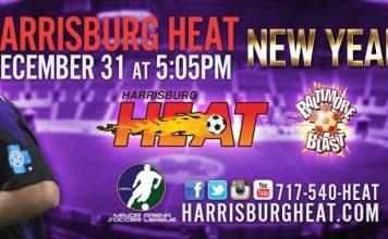 MASL Eastern Div: Baltimore Blast at Harrisburg Heat Dec 31st 5:05pm ET