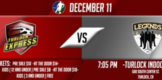 Las Vegas Legends at Turlock Express Dec 11th 7:05pm PT