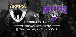 MASL West Div: Dallas Sidekicks at Las Vegas Legends Feb 11th, 2016, 7:05pm