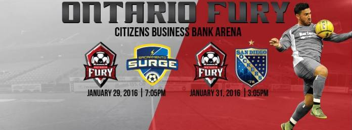 MASL West: Sacramento Surge at Ontario Fury 7:05pm PT Jan 29th watch live video streaming