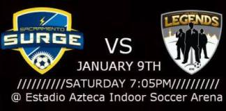 MASL West Div: Las Vegas Legends at Sacramento Surge Jan 9th, 2016