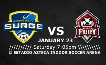 MASL West: Ontario Fury at Sacramento Surge Jan 23rd, 2016 watch live video streaming