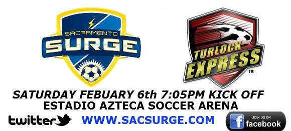MASL West: Turlock Express at Sacramento Surge Feb 6th, 2016