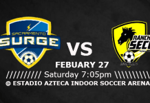 MASL West: Saltillo at Sacramento Surge Feb 27th, 2016