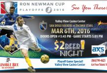 PLAYOFFS: Tacoma Stars at San Diego Sockers Mar 6th 5:05pm PST