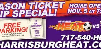 MASL: Harrisburg Heat 2016-17 Home Opener Saturday Nov 5th at 7:05 PM - 10 PM