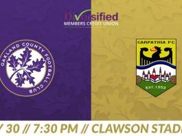 LIVE: UPSL Oakland County FC vs Carpathia FC May 30th, 7:30pm Eastern