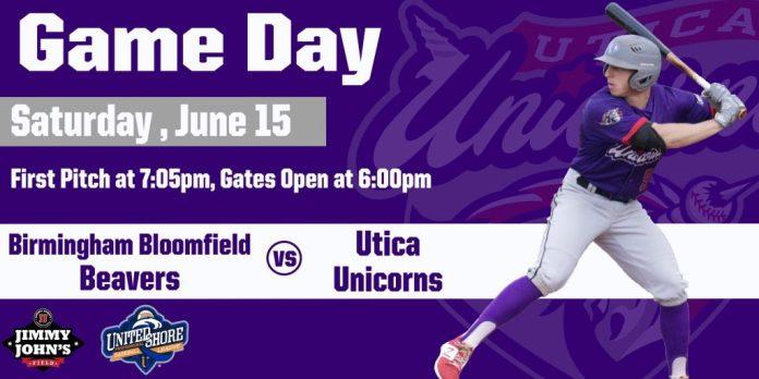 Utica Unicorns vs Birmingham Bloomfield Beavers on 6/15/2019
