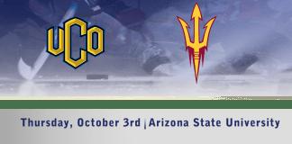 UCO Men's D1 hockey vs Arizona State October 3rd 7:30pm CT