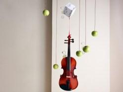 """""""Violin/Hovering2"""", Original artwork, mixed media, © Golnaran 2017, #golnaran, @golnaran"""