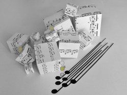 """Cubic Music & Long Notes"", Original artwork, mixed media, © Golnaran"