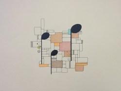 """Long Notes & Stones 1""; ©Golnaran, original artwork, colored pencil & ink, A3, 2016, music,"