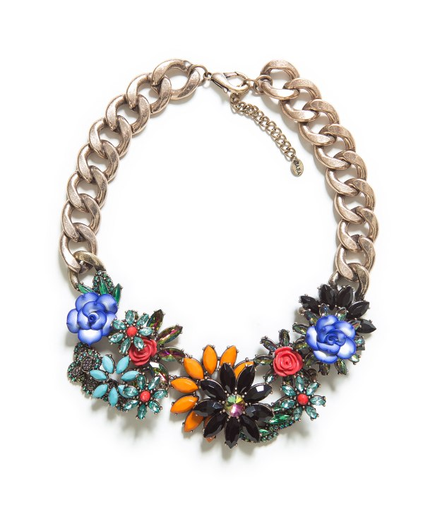 JEWELLED FLOWERS NECKLACE