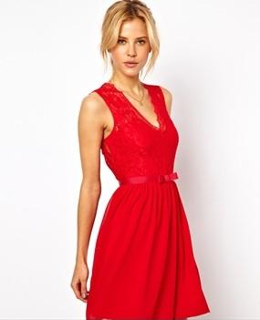 ASOS Scalloped Lace Skater Dress