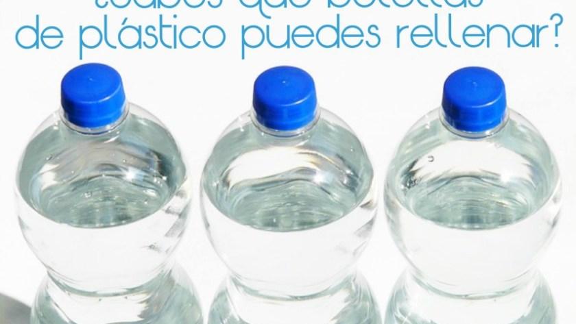 ¿Sabes qué botellas de plástico puedes rellenar?