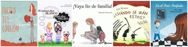 Albumes infantiles sobre diferentes famiias