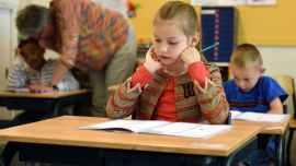children having their exam