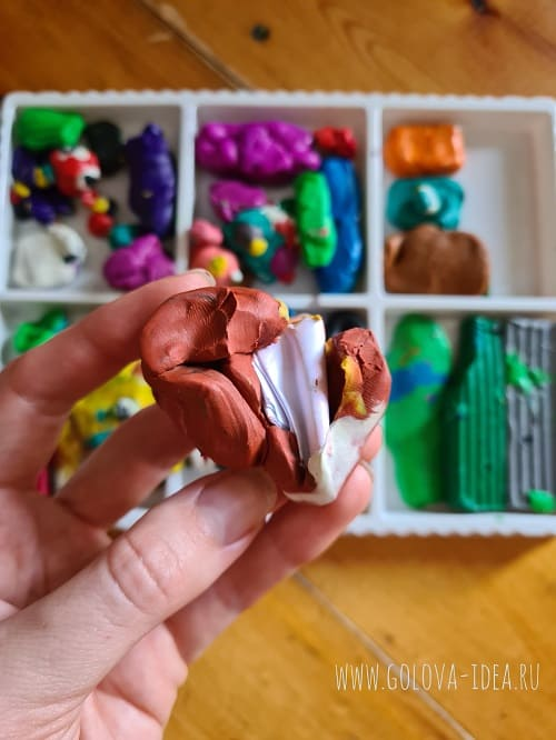 как спрятать записки для квеста в пластилине