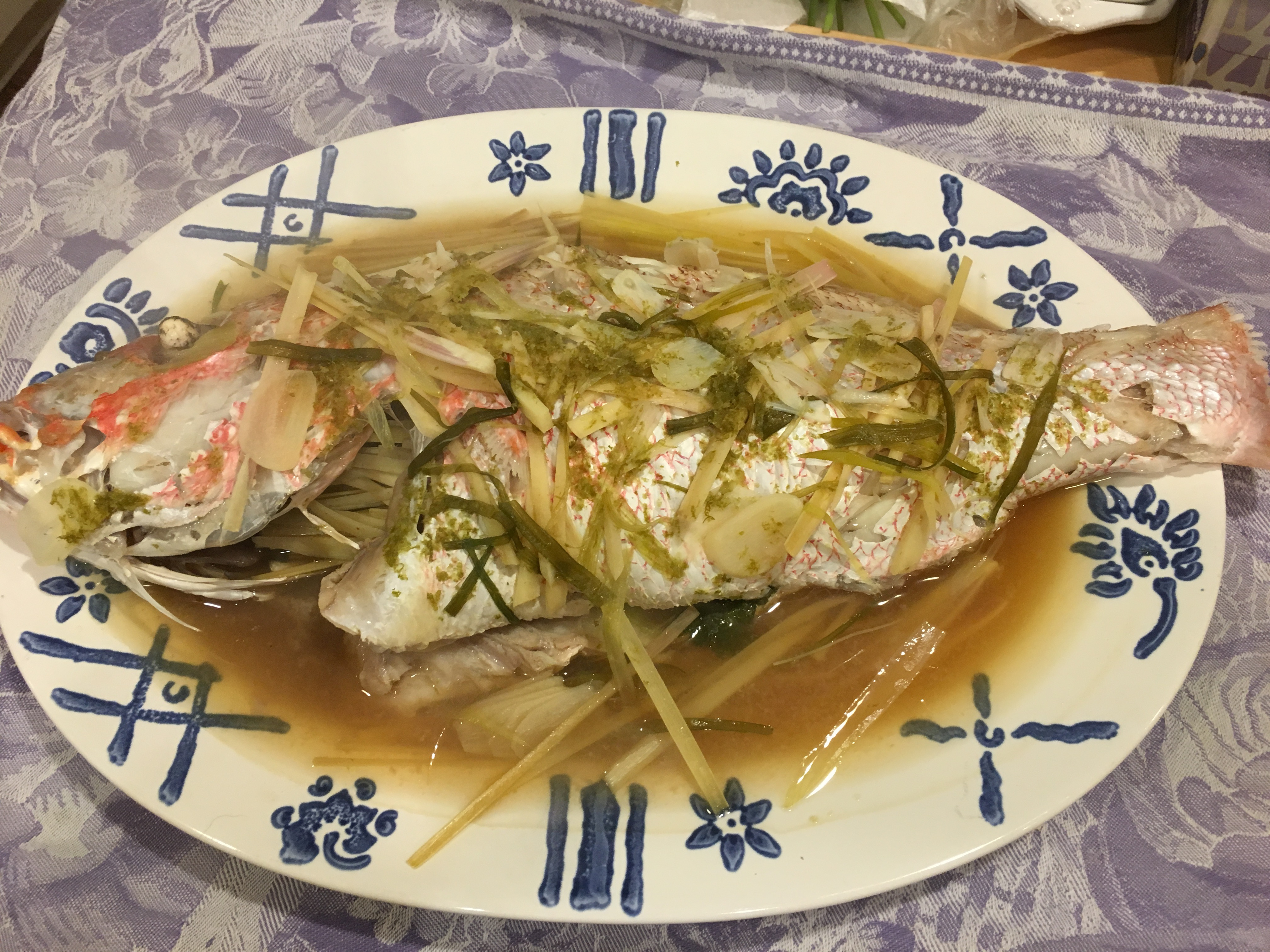 Steamed whole fish going lo co for Steamed whole fish