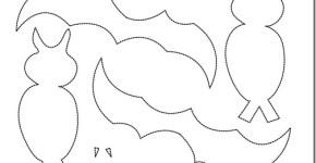 moldes de murcielagos