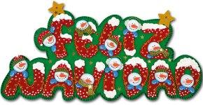 cartel de navidad en goma eva