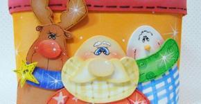 caja de navidad en goma eva