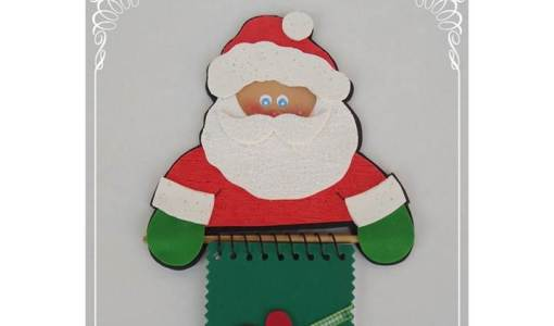 Porta recado de heladera Papa Noel