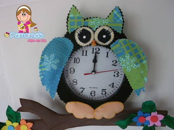 reloj de pared coruja