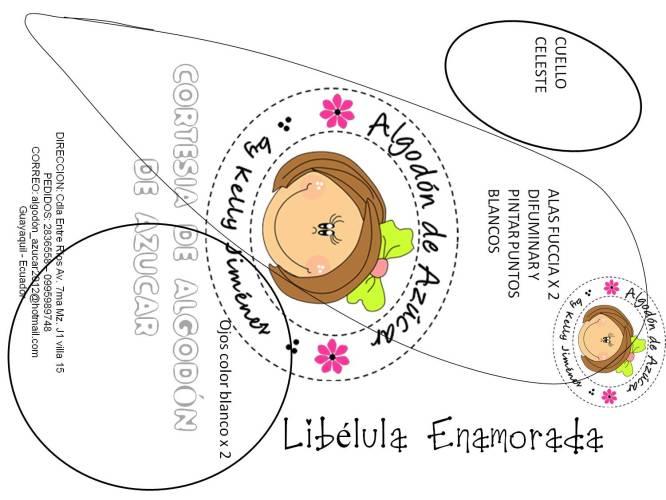 LIBELULA GOMA EVA 2