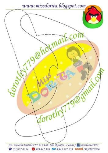 VISERA ANGRY BIRDS GOMA EVA MOLDES 2