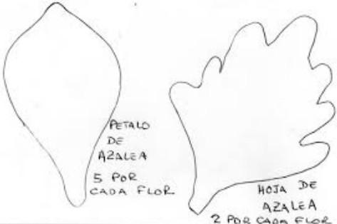 Flor azalea en goma eva 3