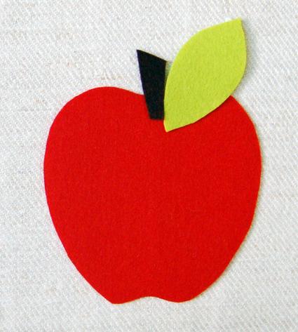Posavasos de goma eva con forma de manzana 1