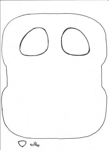 Cartuchera de goma eva con forma de oso panda molde 2