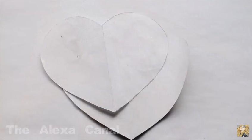 Caja de goma eva en forma de corazon para San Valentin 2