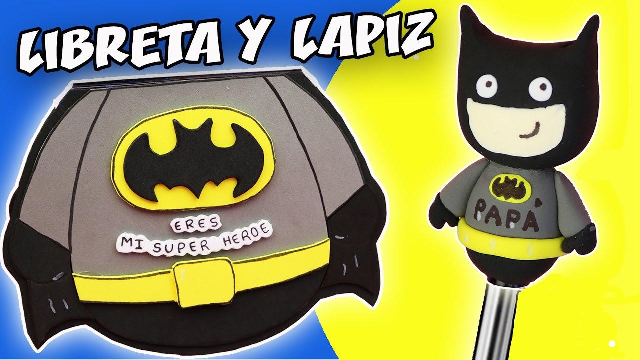 Libreta y lapiz para Papá Libreta-de-superheroe-de-goma-eva-para-el-dia-del-padre