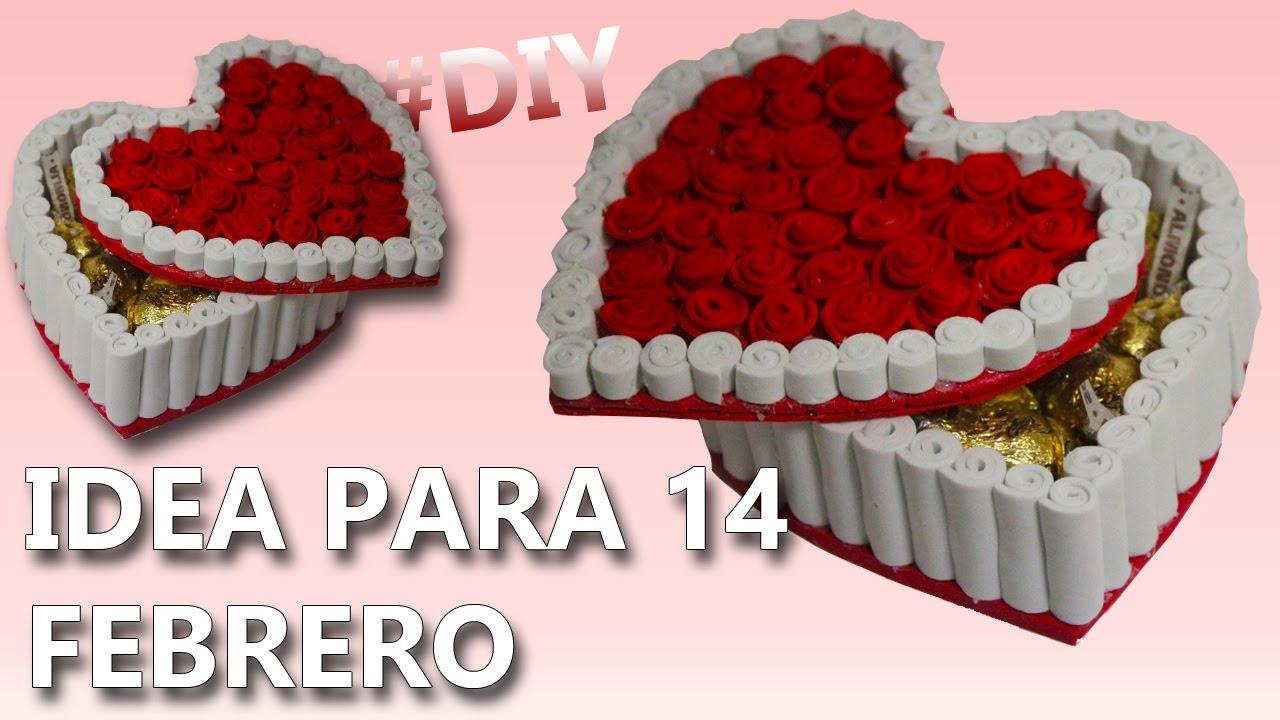 Caja de rosas en goma eva para San Valentín - Manualidades en Goma Eva y  Foami