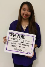 Diana is making a difference because she wants to inspire others to be happy!