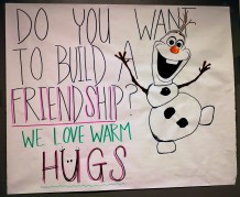 Do you want to build a friendship? Inspired by the movie, Frozen!
