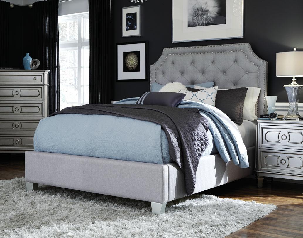 Windsor Queen Upholstered Bed, Dresser, Mirror