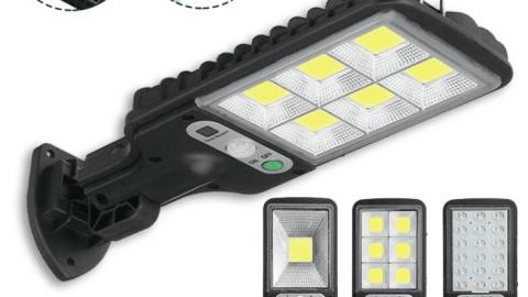 LED Light PIR Motion Sensor Solar Street 300W-650W IP65 Wall Mounted Lamp Garden