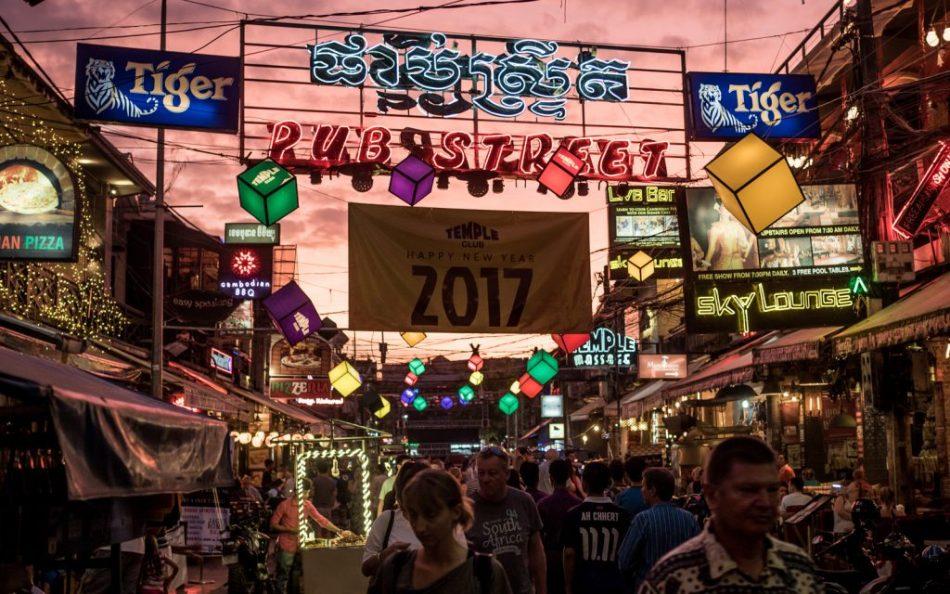 """Pub Street"" at sunset. Siem Reap, Cambodia"