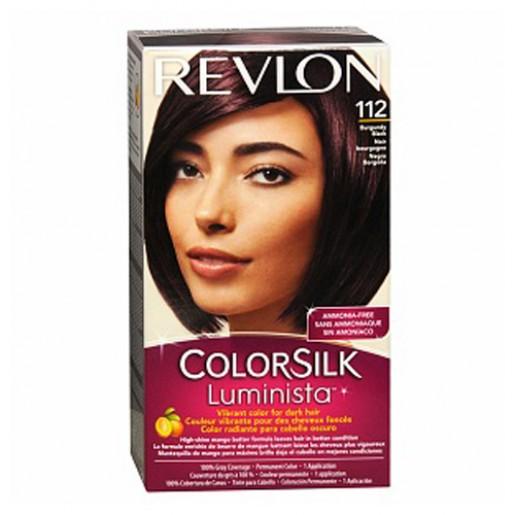 Revlon ColorSilk Luminista Hair Color Dye Burgandy Black