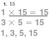 Go Math Grade 4 Answer Key Chapter 5 Factors, Multiples, and Patterns Common Core Model Factors img 1