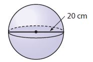 Go Math Grade 8 Answer Key Chapter 13 Volume Lesson 3: Volume of Spheres img 14
