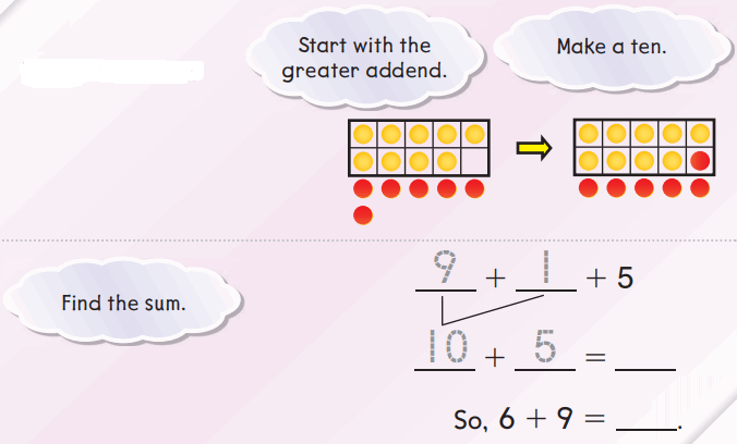 Go Math Answer Key Grade 1 Chapter 3 Addition Strategies 203
