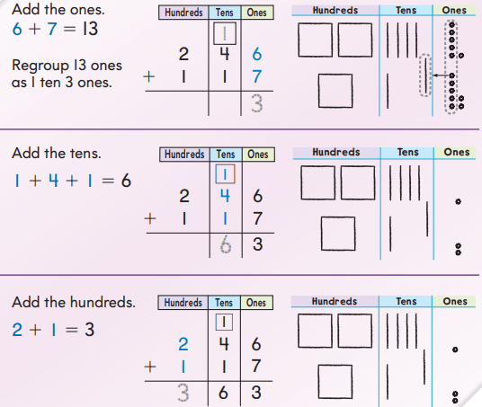 Go Math Answer Key Grade 2 Chapter 6 3-Digit Addition and Subtraction 6.3 3