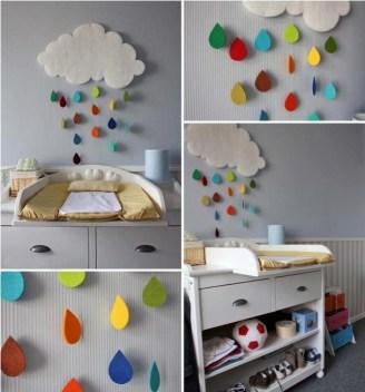 felhő, színes esőcseppekkel