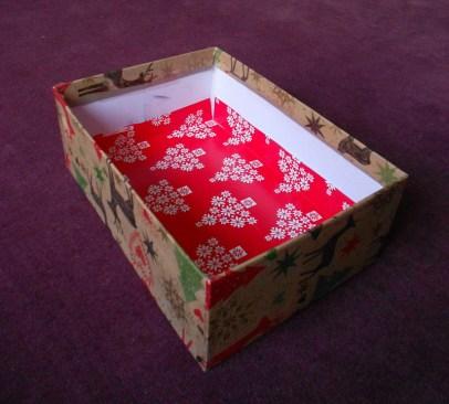 a dobozbelső aljának befedése