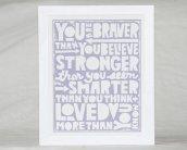 braver, stronger, smarter, loved
